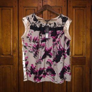 Satin sleeveless blouse